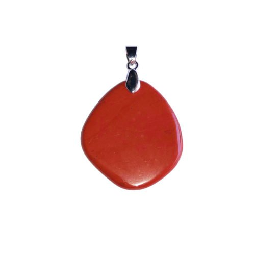 colgante jaspe rojo piedra plana