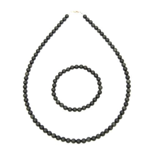 caja obsidiana negra piedras bolas 6mm