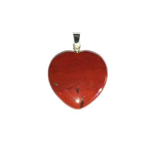 colgante jaspe rojo corazón pequeño