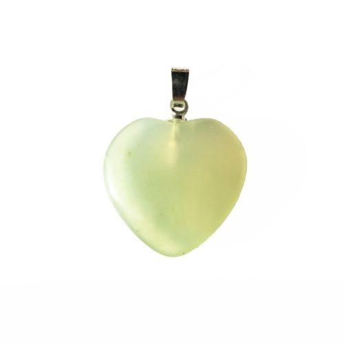 colgante jade verde pequeño corazón