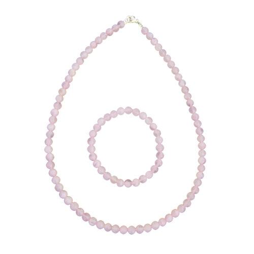 caja cuarzo rosa piedras bolas 6mm