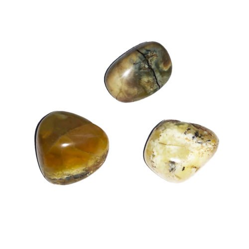 piedra rodada ópalo amarillo