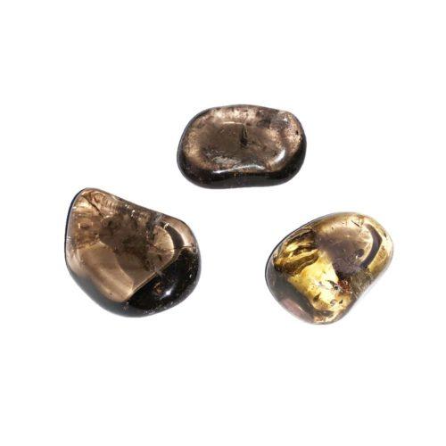 piedra rodada cuarzo ahumado