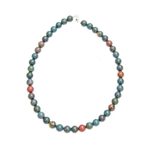 collar jaspe heliotropo piedras bolas 10mm