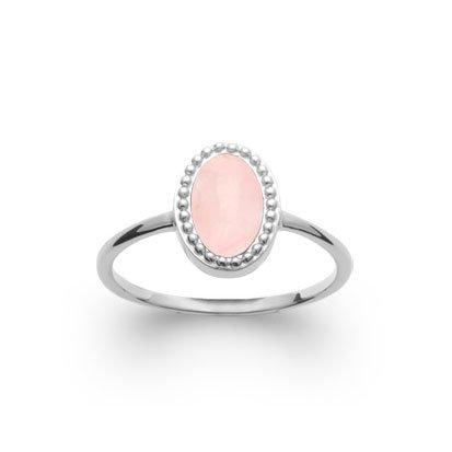 anillo cuarzo rosa alexandra plata 925