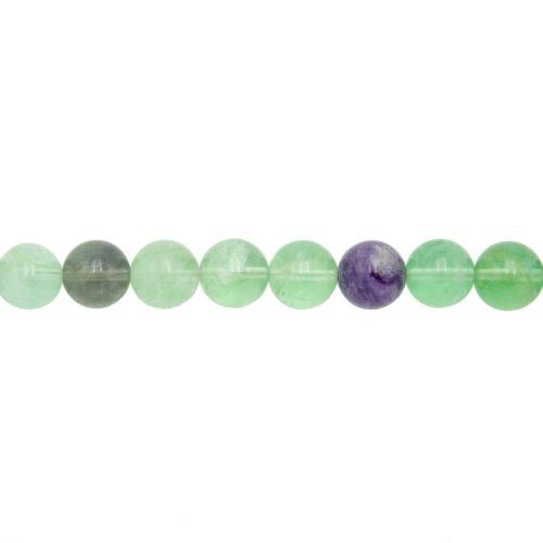 hilo fluorina multicolor piedras bolas 12mm
