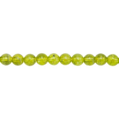 hilo peridoto piedras bolas 8mm