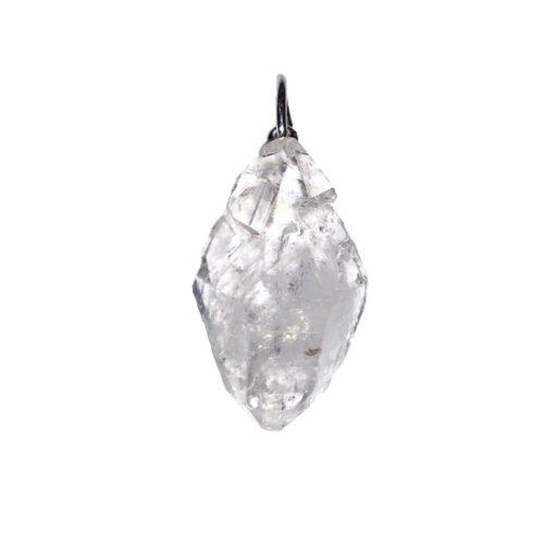 colgante diamante herkimer piedra bruta