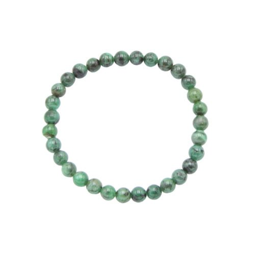 pulsera esmeralda piedras bolas 6mm