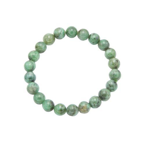 pulsera esmeralda piedras bolas 8mm