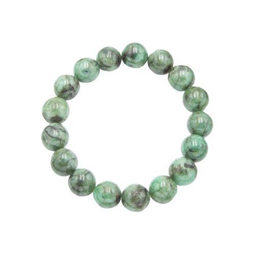 pulsera esmeralda piedras bolas 12mm