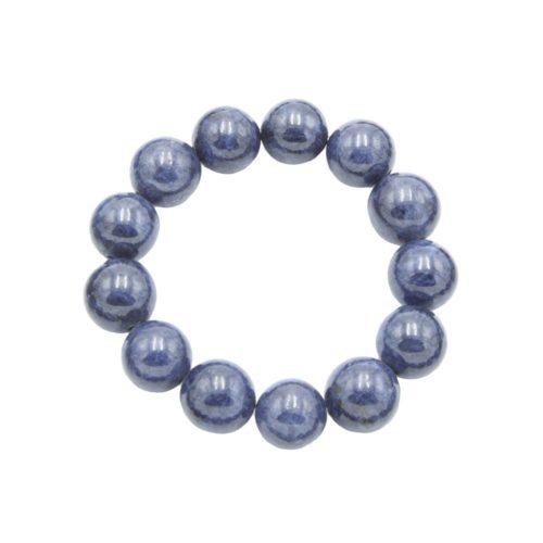 pulsera zafiro piedras bolas 14mm