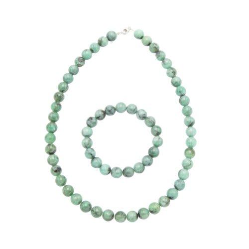juego esmeralda piedras bolas 10mm