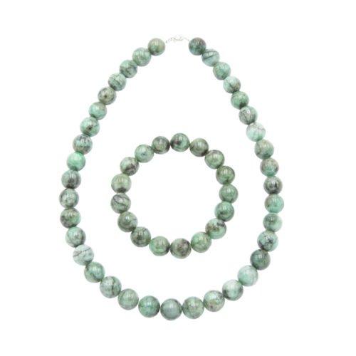 juego esmeralda piedras bolas 12mm