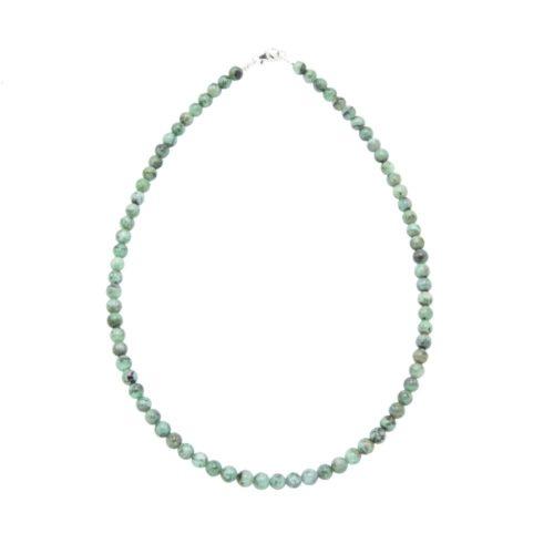 collar esmeralda piedras bolas 6mm