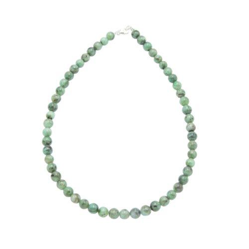 collar esmeralda piedras bolas 8mm