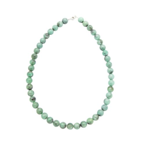 collar esmeralda piedras bolas 10mm