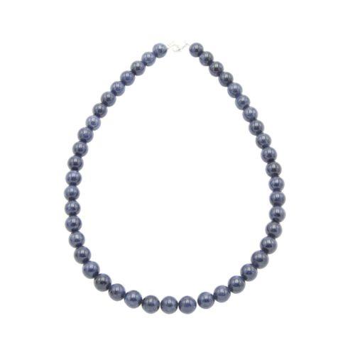 collar zafiro piedras bolas 10mm