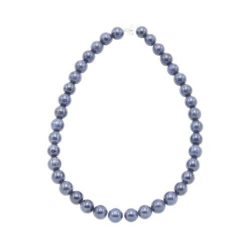 collar zafiro piedras bolas 12mm