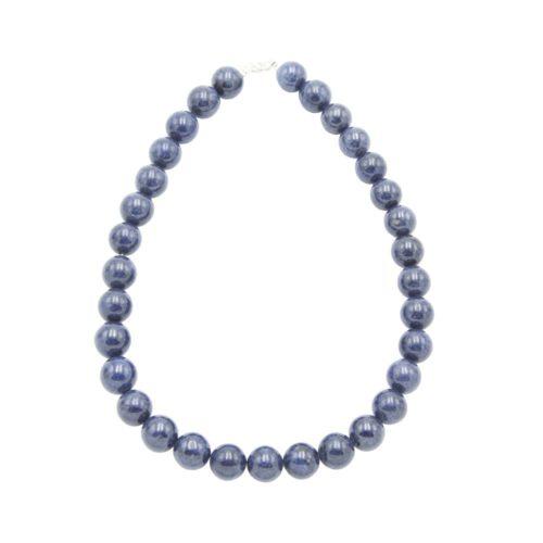 collar zafiro piedras bolas 14mm