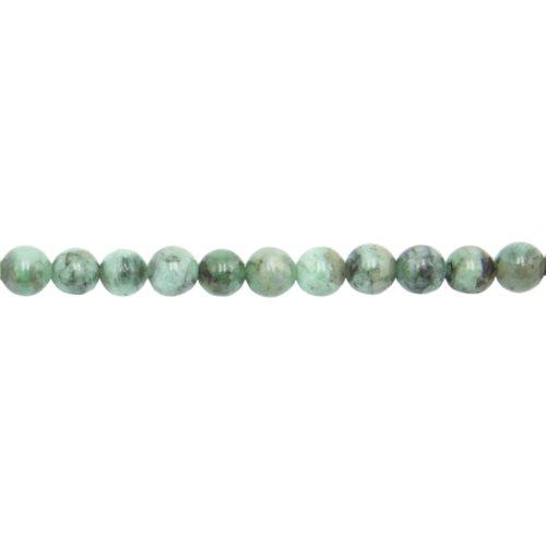 hilo esmeralda piedras bolas 6mm