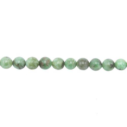 hilo esmeralda piedras bolas 8mm