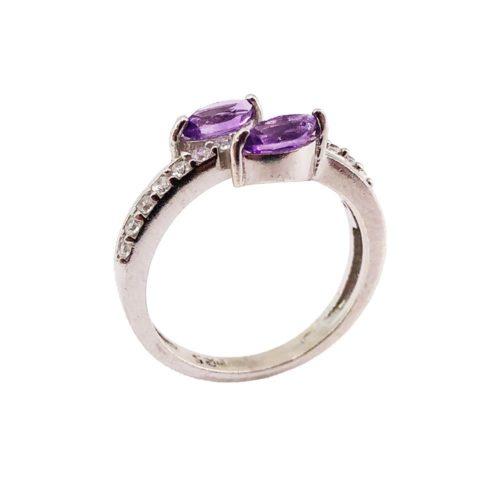 anillo amatista plata