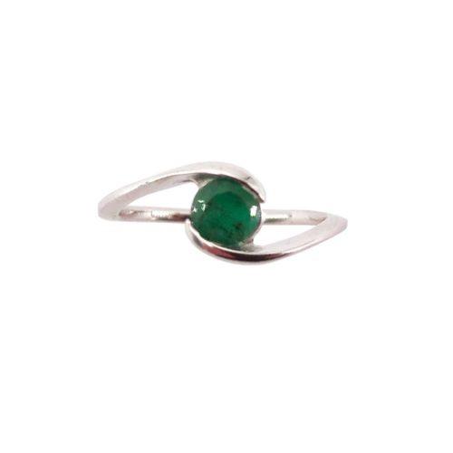anillo esmeralda plata