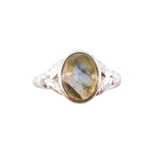 anillo labradorita plata
