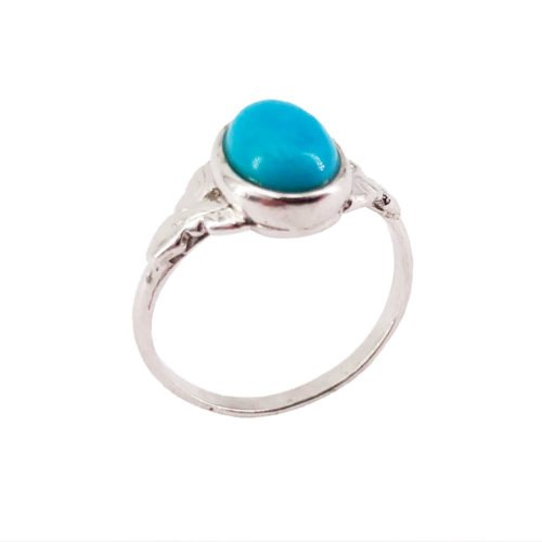 anillo turquesa plata