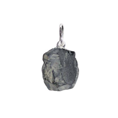 colgante espinela negra piedra bruta