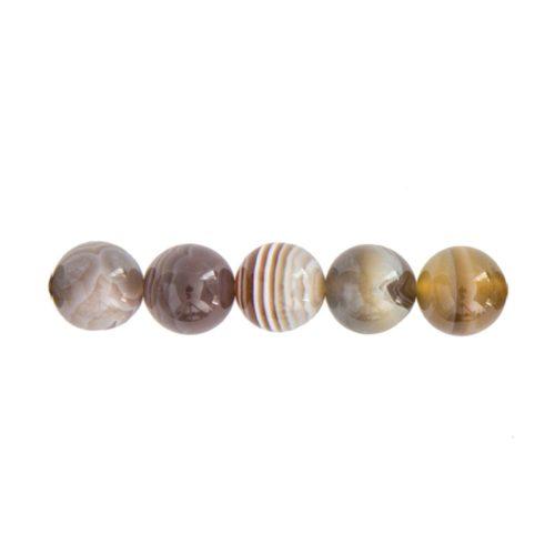 perla redonda ágata botsuana 10mm