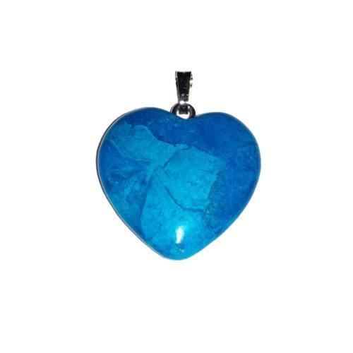 colgante howlita azul pequeño corazón