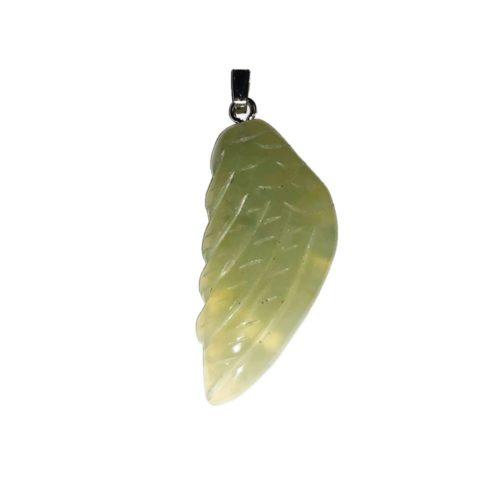 colgante jade verde ala de ángel