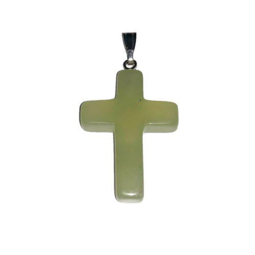 colgante jade verde cruz