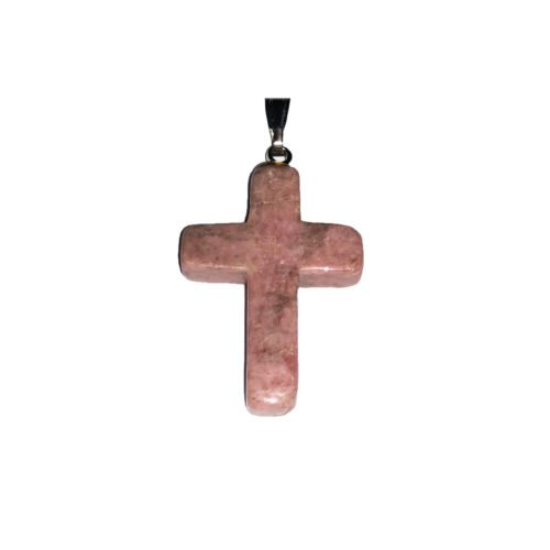 colgante rodonita cruz