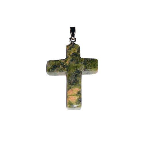 colgante unakita cruz