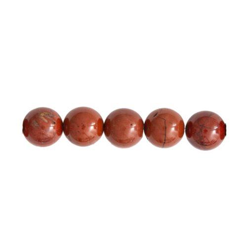 perla redonda jaspe rojo 8mm