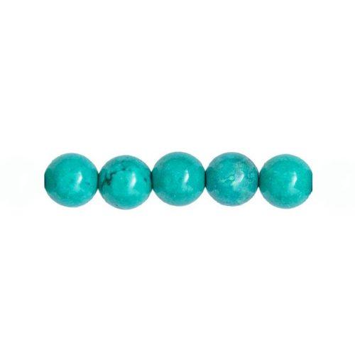 perla redonda turquesa 8mm