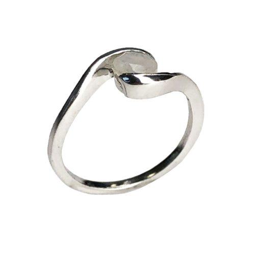 anillo piedra de luna plata