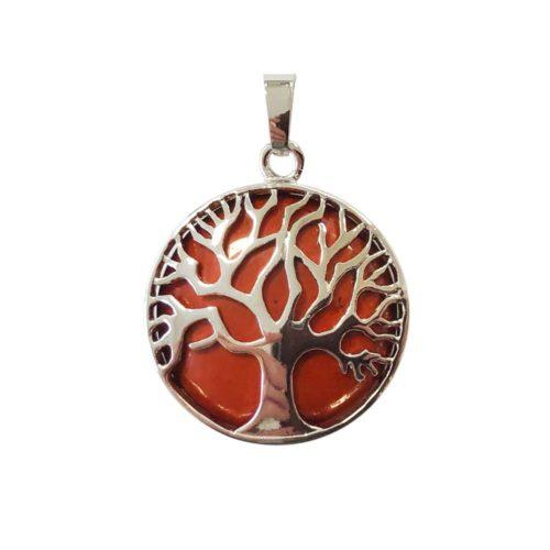 colgante jaspe rojo árbol de la vida