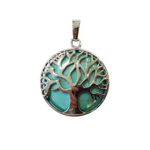 colgante turquesa estabilizada árbol de la vida