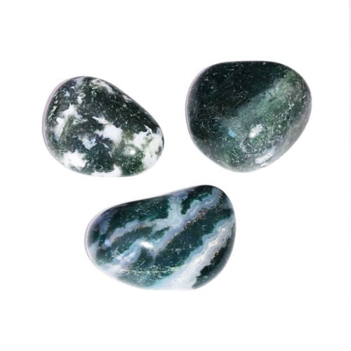 piedra rodada ágata musgosa