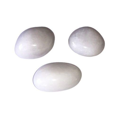 piedra rodada cuarzo nieve
