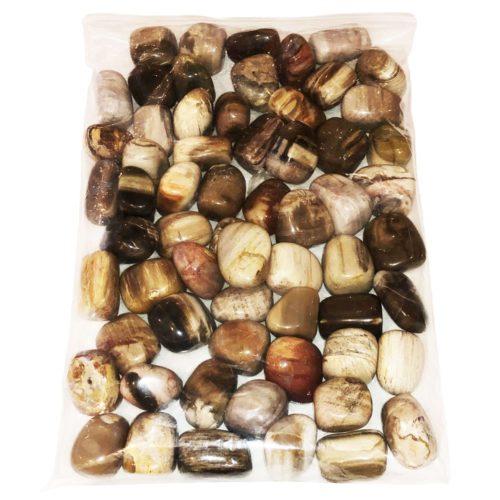 bolsa piedras rodadas madera petrificada 1kg