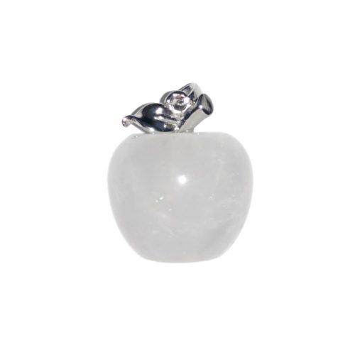 colgante cristal de roca manzana