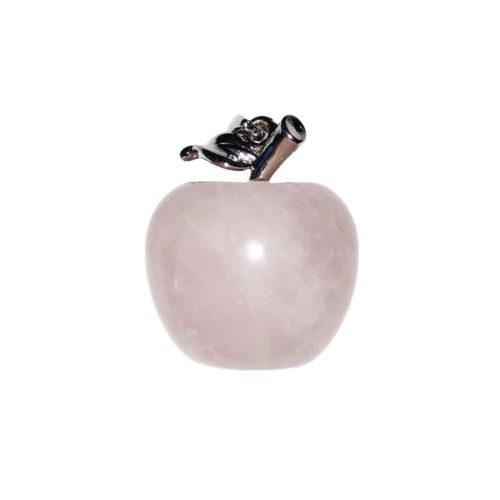colgante cuarzo rosa manzana