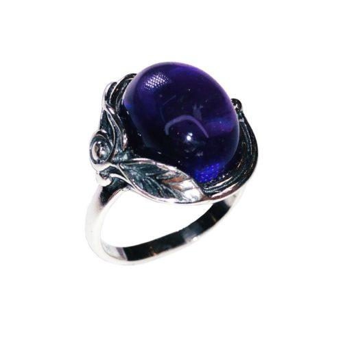 anillo amatista plata rodiada