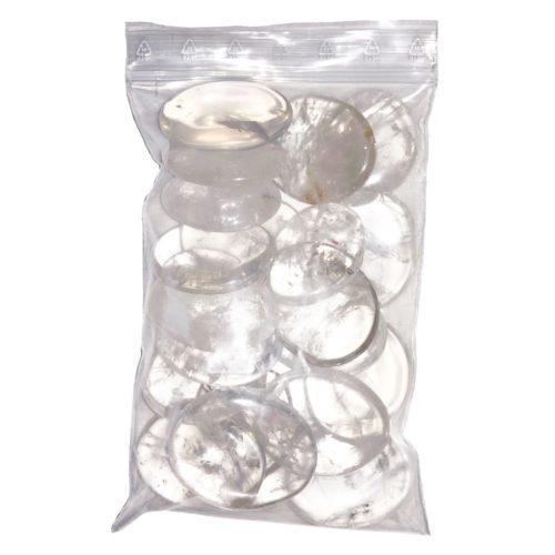 bolsa de guijarros Cristal de Roca