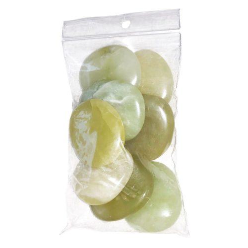 bolsa guijarros jade verde